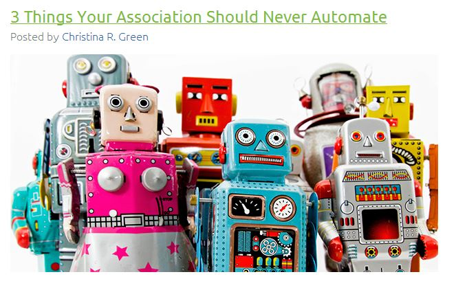 3 Things Your Association Should Never Automate