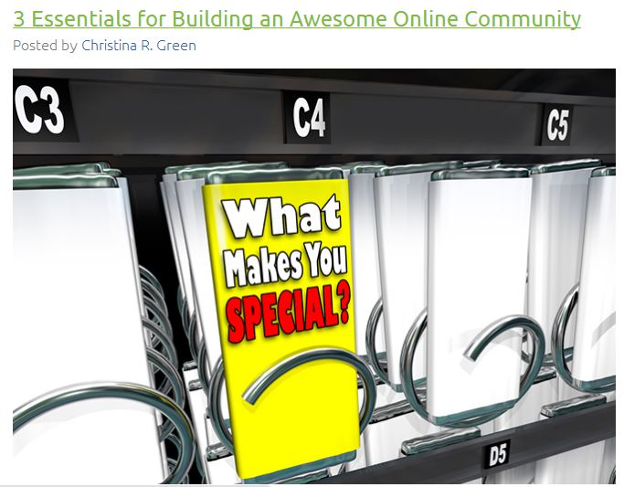 What makes your online community special?