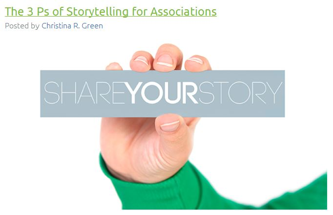 How to tell your association's story. #storytelling